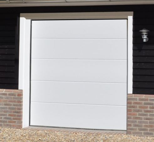 Alutech Large Ribbed Insulated Sectional Garage Door
