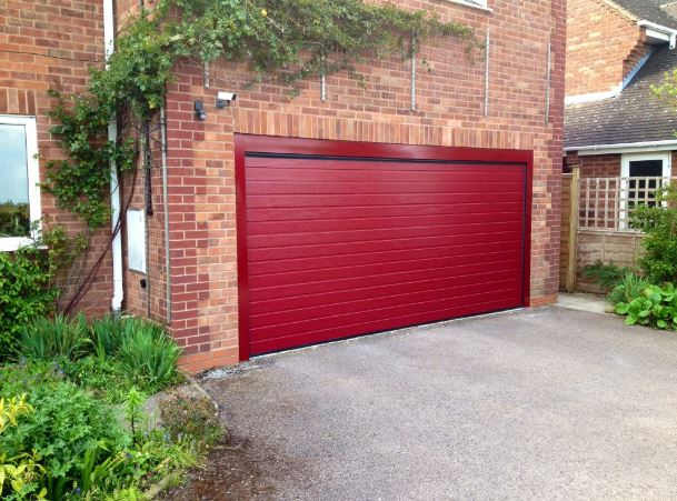 Alutech Small Ribbed Insulated Sectional Garage Door